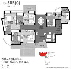floor plan of unitech escape gurgaon apartments flats in