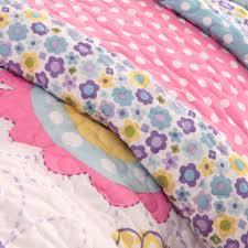 girls lilac bedding pink blue daisy u0026 butterfly bedding twin full queen little girls