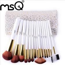 high quality fashion synthetic hair 15pcs set makeup brush set
