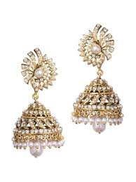 jhumki style earrings jhumki style white earrings buy online at a price of rs 933 only