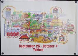 Washington State Fair Map by 1998 Central Washington State Fair Poster Print Cartoon Map Yakima