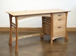 Computer Desk Hard Wood Waterfall Desk Hardwood Artisans Handcrafted Office Furniture