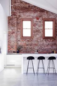 faux brick kitchen backsplash kitchen astonishing cool kitchen with brick wall breathtaking