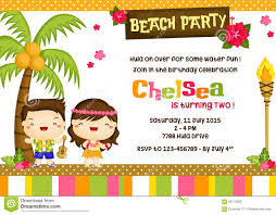Invitation Card For Pool Party Hawaiian Pool Party Invitation Royalty Free Stock Images Image