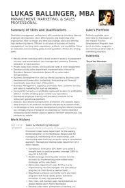 Sample Resume In The Philippines by Sales U0026 Marketing Manager Resume Samples Visualcv Resume Samples