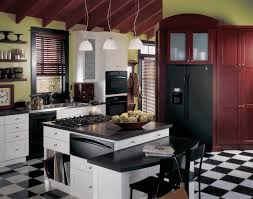 images of kitchens with black cabinets brown granite countertop