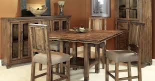 Bar Height Dining Room Table Sets Interesting Ideas Rustic Counter Height Dining Table Sets Bright