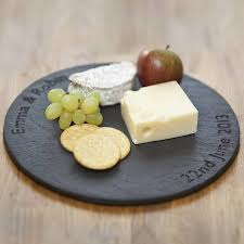 personalized cheese tray personalised slate board slate rounding and board