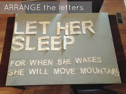 diy nursery art let her sleep u2014 snappy casual