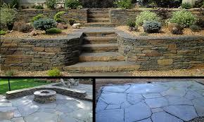 garden retaining wall materials outdoor stone steps ideas