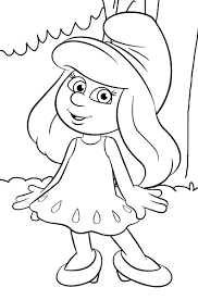 smurf coloring pages coloring page