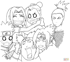 naruto squad 7 and 10 coloring page free printable coloring pages