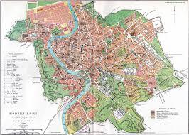Rome On World Map Street Map Of Rome Circa 1885