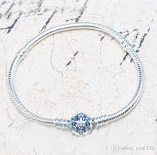pandora bracelet with charms images 2018 2017 new 925 sterling silver snowflake clasp sanke chain jpg