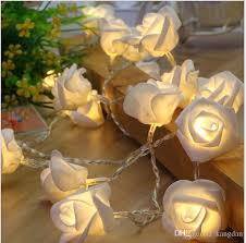 christmas tree flower lights 2 5m colorful christmas tree lights party festival decoration rose