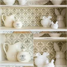 White Shabby Chic Bookcase How To Paint A Shabby Chic Bookcase Furniture Stencils U0026 Chalk