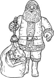 father christmas colouring pages father christmas colouring
