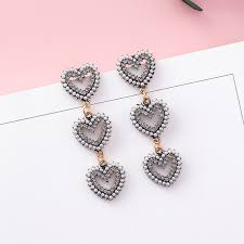 cool dangle earrings korean rhinestone dangle earrings