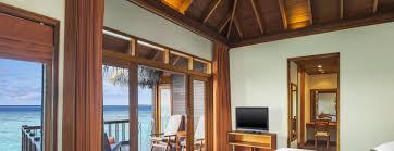 luxury water bungalows sheraton maldives resort