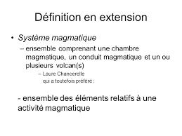 chambre magmatique d馭inition compte rendu de l analyse des cinq termes suite ppt