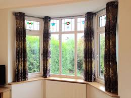 Curtains On Windows With Blinds Inspiration Amazing Curtain Pole Bay Window Eyelet Homeminimalis With Pict For