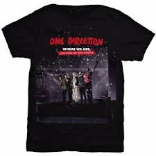 new one direction ladies tee san siro movie medium medium black