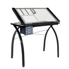 Drafting Table Glass Designs Futura Glass Top Drawing Drafting Table Shipping Included