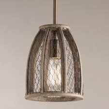 wire pendant light fixtures chicken wire pendant small shades of light