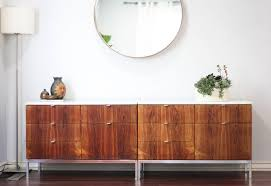 Marble Sideboards Pair Of Florence Knoll Rosewood Sideboards W Marble Top Sold