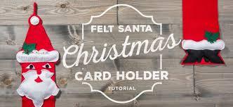 christmas holder felt santa christmas card holder sewing