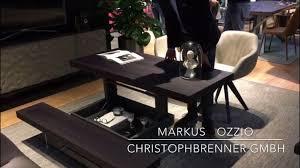 markus ozzio wandelbarer tisch isaloni youtube