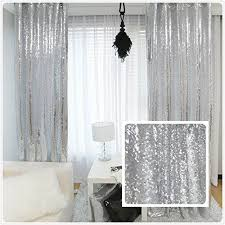 Silver Window Curtains Glitter Curtains Ready Made 100 Images Glam Latte String