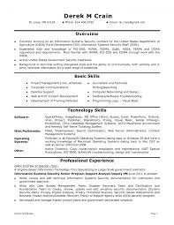Security Job Resume Samples by Information Security Sample Resume Resume For Your Job Application