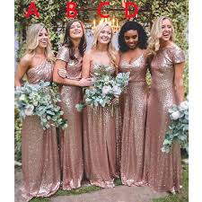 coral and gold bridesmaid dresses 2017 gold sequin mismatched wedding bridesmaid dresses