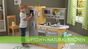 Pretend Kitchen Furniture Children U0027s Uptown Natural Play Kitchen Toy Review Youtube