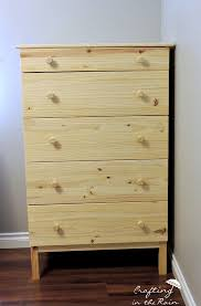 Ikea Tarva Nightstand Red And Metal Dresser Makeover Crafting In The Rain