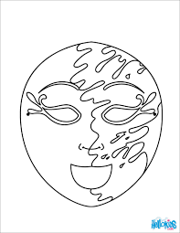 earth mask coloring pages hellokids com