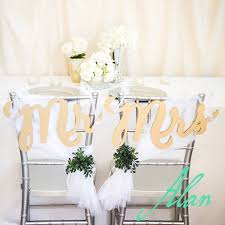 wedding chair signs 7 gold chair signs mr mrs signs for wedding chairs for