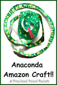 anaconda snake rainforest craft u0026 fun facts preschool powol