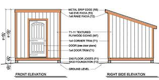 How To Design Shed Plans by 8 8 Lean To Shed Plans U0026 Blueprints For Garden Shed