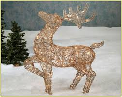 Reindeer Decoration Light Up Reindeer Outdoor Decoration Home Design Ideas