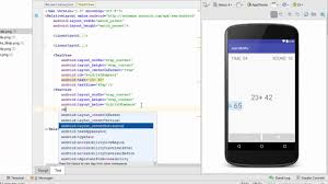 android layout width android app screen design tutorial using relative layout and
