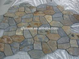 irregular random shape black slate floor tile flagstone