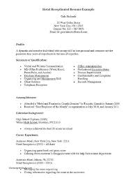 front desk agent duties resume secretary resume duties front desk agent job awesome medical