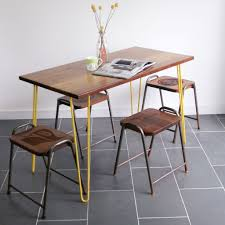 the hairpin u0027 iroko desk table in yellow other colours available