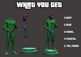 Green Man Meme - 3d print model whatsapp black man meme cgtrader