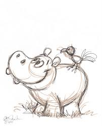 Drawings Of Halloween Drawings Of Hippos Thursday January 6 2011 Cute Pinterest