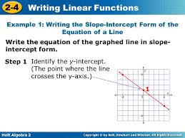 writing linear functions ppt download