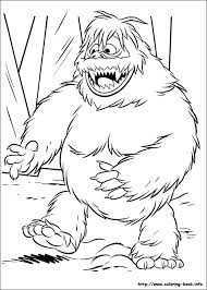 abominable snowman coloring pages rudolph printable coloring sheets