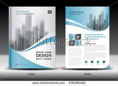 red cover annual report brochure flyer template creative design